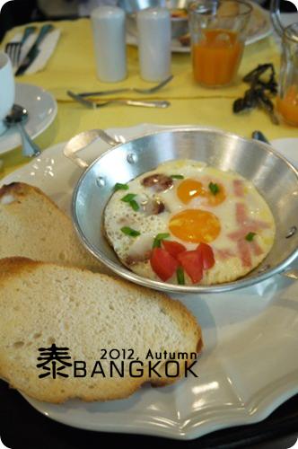2012,秋,曼谷:: 穿越時空Baan Pra NondB&B之早餐也好吃