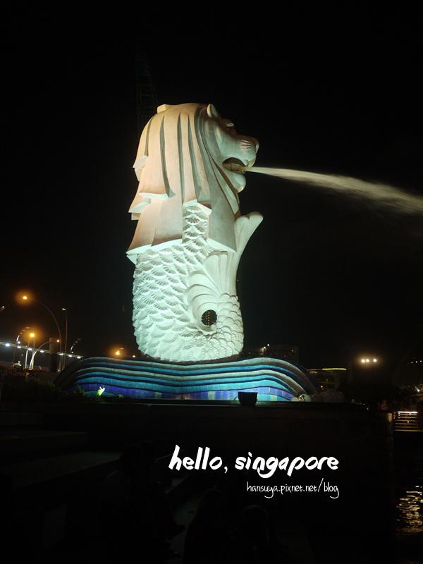 新加坡│魚尾獅公園 Merlion Park::乘涼、賞夜景、觀燈光秀好去處
